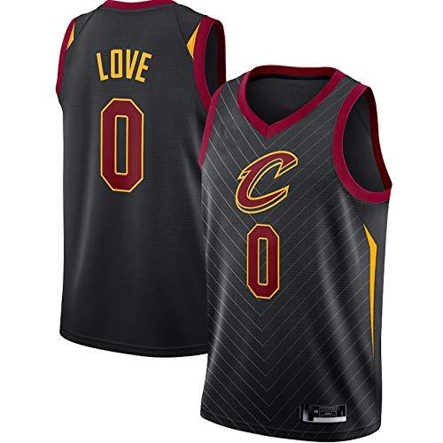 DODE Cleveland Cavaliers #0 - Camiseta de baloncesto para hombre, diseño de Kevin Love, 2020/21, color negro