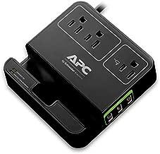 APC 3-Outlet Surge Protector 1080 Joule with 3 USB Charging Ports, SurgeArrest Essential (P3U3B), Black