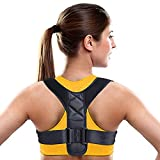 Posture Corrector for Women Men - YoYang Comfortable Posture Corrector Posture Brace Posture Support- Keep Posture Perfect to Prevent Kyphosis - Adjustable Upper Back Posture Corrector for Women Men