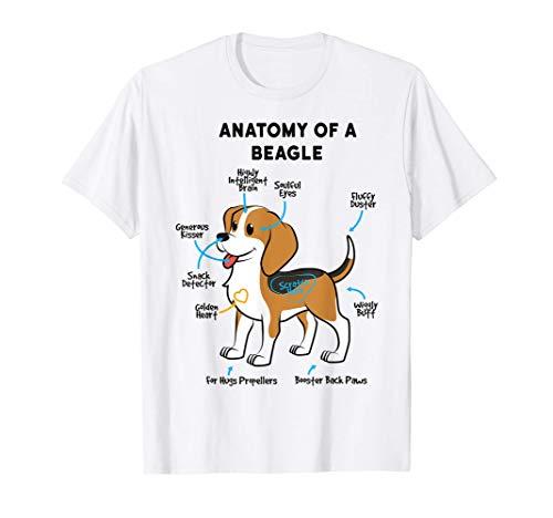Anatomia Di Un Proprietario Di Cane Divertente Beagle Maglietta