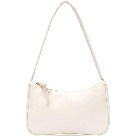Yorimi Unterarmtasche für Damen im Retro-Stil, Schleife, Handtasche, PU-Leder, Tasche mit Griff oben Taschen mit Tragegriff weiß