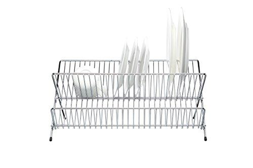 Kitchen Craft Abtropfständer faltbar 48x35cm verchromt in Silber, Edelstahl, 25 x 25 cm