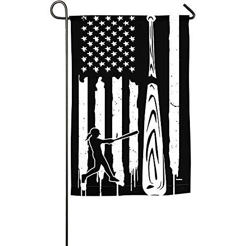 NA USA Baseball Hitler Baseballer Garden Flag Impreso Flag Spring Summer Garden Flag