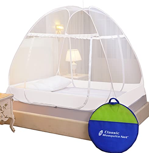 Classic Mosquito Net, Polyester, Premium Foldable for Double Bed - King Size, White