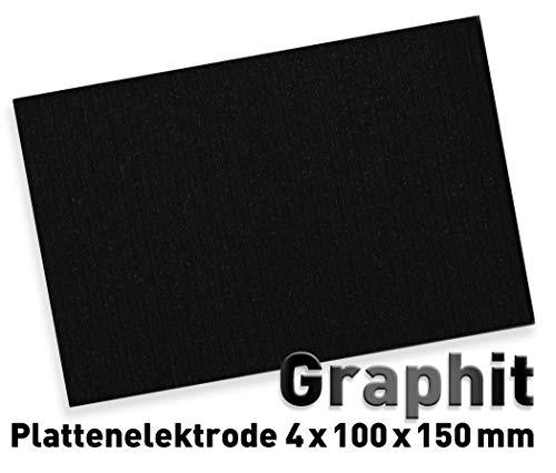 Graphit-Anode (100 x 150 mm) für Galvanik, Elektrolyse 10 x 15 cm, Alternative zu Platin-Elektrode, Plattenelektrode