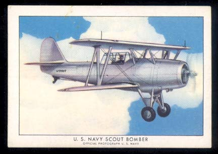 1935 Wings Cigarettes Series A (Non-Sports) card#23-a scout bomber SBU-1 of the Grade Excellent
