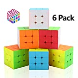 Speed Cube Set, Vdealen 3x3x3 Speed Cube Magic Cube Professional Puzzle Cube Set Toy Great Gift for Kid [6 Pack]