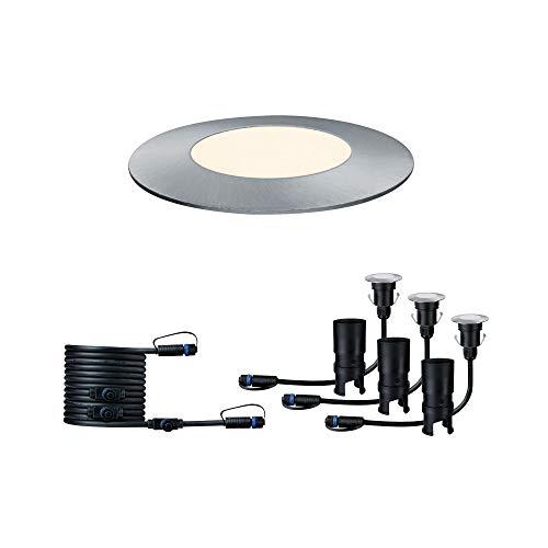 Paulmann 939.49 Outdoor Plug & Shine Floor Mini 3er-Ergänzungsset IP65 3000K 3x2,5W 24V 93949 LED Bodeneinbauleuchte Aussenbeleuchtung Bodenstrahler