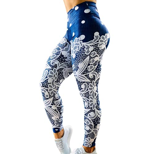 QTJY Pantalones de Yoga de Cintura Alta para Mujer, Pantalones Deportivos elásticos, Suaves y de Secado rápido, Pantalones de Ejercicio Push-up, Pantalones de Fitness G XL