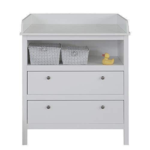 trendteam smart living Babyzimmer Wickelkommode Kommode, 90 x 104 x 78 cm in Weiß mit viel Stauraum und großzügiger Wickelfläche