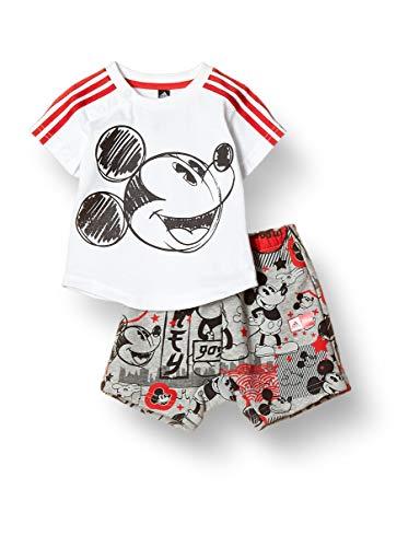 adidas Kinder Kinder Sportanzug Inf Dy Mickey Mouse Sportanzug, White/Vivred, 92, GD3724