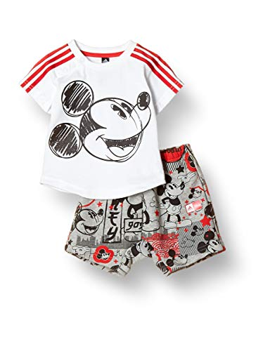 adidas INF DY MM Sum 2 Youth/Baby Jogger, Niños, White/vivred, 1824
