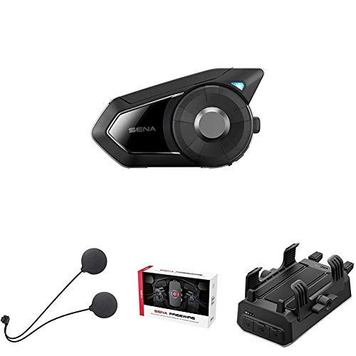 Sena 30k + Delgado Altavoz + Bluetooth CB y Adaptador de Audio + Sena Powerpro-01 Soporte para Manillar
