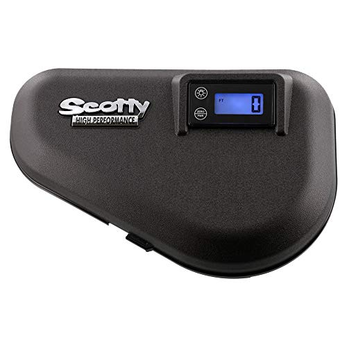 Scotty #2133 HP Electric Downrigger Replacement Lid with Digital Counter,Black