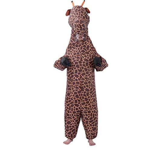 Aufblasbares Kostüm-Erwachsene Halloween Giraffe Aufblasbarer Anzug Karikatur-Tier Modelling-Show-Party Kleidung 150-180cm