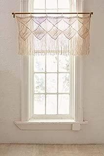 Macrame Curtain Valance - Bohemian Boho Handwoven Wedding Backdrop Alter - Macrame Arch Window Door Curtains Valance