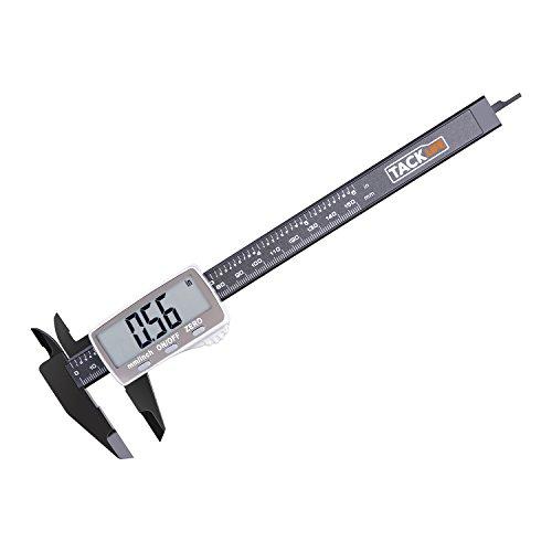 Calibre Digital 0-150mm TACKLIFE Pie de Rey de Alta presión, Calibrador Micrómetro de pantalla LCD, Protección aislamiento, Digital Calibre diámetro interior, exterior, profundidad y escalera DC01