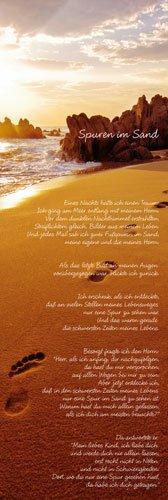 Poster Fuß-Spuren im Sand - Größe 30,5 x 91,5 cm - Mediumposter