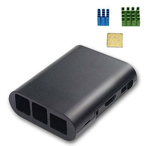 waves Raspberry Pi 3B 3B+ ケース ヒートシンク 3点付属 (ブラック)