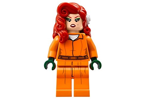 LEGO BATMAN MOVIE MINIFIGURE - POISON IVY IN ARKHAM ASYLUM PRISON JUMPSUIT - 70912
