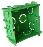 Boîte maçonnerie carrée 75x75x40 pour appareillage vis & griffes livré + vis