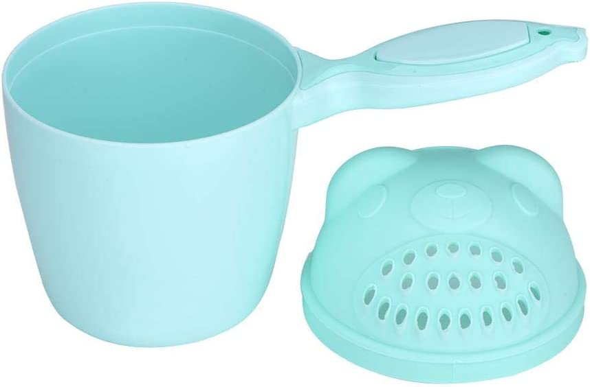 Zerodis Kids Shampoo Rinse Cup Newborn Bath Shower Flusher Baby Bath Waterfall Rinser for Protecting Infant Eyes(Green)