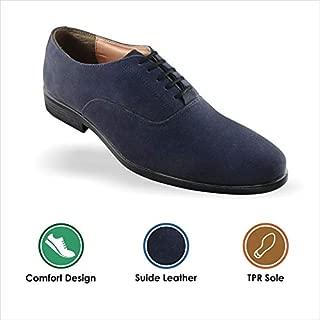 Tapps Men's Suede Black Formal Shoes for Men