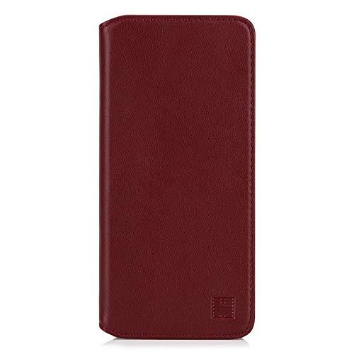 32nd Klassische Series 2.0 - Lederhülle Case Cover für OnePlus 8, Echtleder Hülle Entwurf gemacht Mit Kartensteckplatz, Magnetisch und Standfuß - Burgunder
