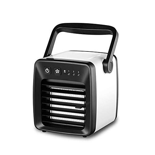 Quiet refrigeradores evaporativos personal del acondicionador de aire del ventilador, 3-en-1 Mini acondicionador de aire, humidificador, 3 velocidades, tanque de agua de 350 ml, ventilador de escritor