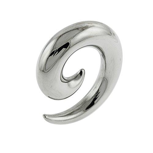 Piercing de acero quirúrgico 316L de 4 mm con forma de espiral