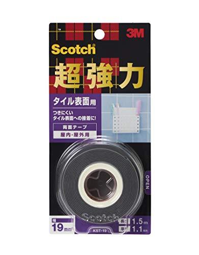 スリーエム スコッチ 超強力両面テープ タイル表面用 19mmX1.5m KST-19