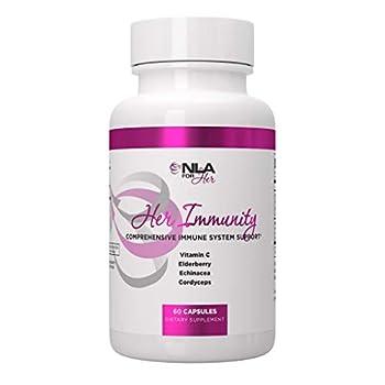 NLA for Her Immunity -  60 Veggie Capsules  - Comprehensive Immune System Support for Women - Vitamin C Elderberry Echinacea Cordyceps - Boost Immune System & Boosts Energy