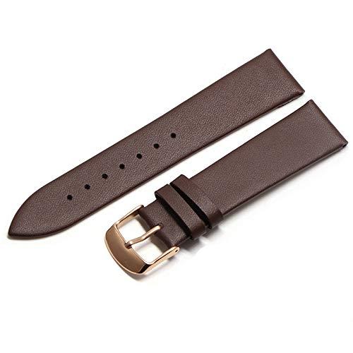 XINGPENGME Piel de Vaca Cuero Correa de 18mm 20mm 22mm Suave y Delgada Correa de Ajuste del cinturón for Relojes Galaxy S3 Reloj de Engranajes (Band Breedte : 20mm, Bandkleur : Rose4)