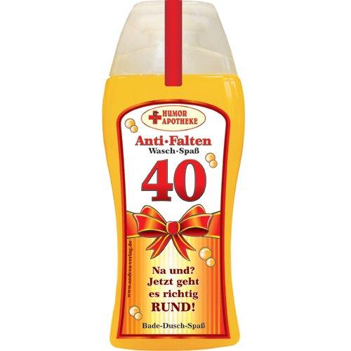 Andrea Verlag Spaß Duschbäder Duschgel Shampoo zum Geburtstag Geschenk für Männer Frauen (40. Geburtstag 32996)