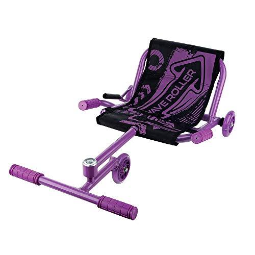 NBZH Kinder Go Kart Drift Trike Maschine Mini Kart Drifter Kinder Rennkart Geeignet für 4-15 Jahre (Tragegewicht 70KG),Lila