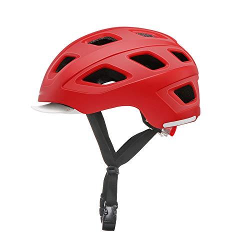 HVW Casco de Bicicleta para Adultos, Casco de Ciclo de Bicicletas con Seguridad Traslight Urban Charmuter Lightweight Tamaño Ajustable Casco de Ciclismo para Hombres Mujeres 21.25-22.83 Pulgadas,D