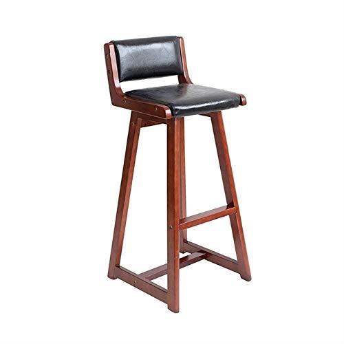 Krzesła barowe nowoczesne z poliuretanu, wysokość przeciwległa Bistro Pubb Side, stołek barowy, do domu i mebli kuchennych, krzesło barowe (kolor : czarny, rozmiar: dł. 39 cm x szer. 39 cm x wys. 65 cm)