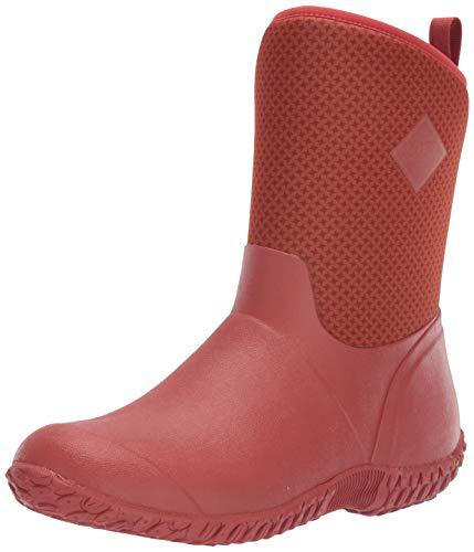 Muck Boot Women's Muckster II Mid Rain Boot, Orange/Roses Print, 10 M US