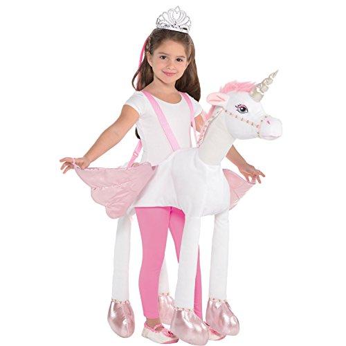 Disfraz de pony de peluche con luz y sonido para nias
