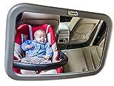 Iscudo - Rücksitzspiegel für Babys Mutti's Blick (190 x 300 mm), grau