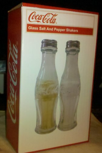 Coca Cola - Glass Salt And Pepper Shakers