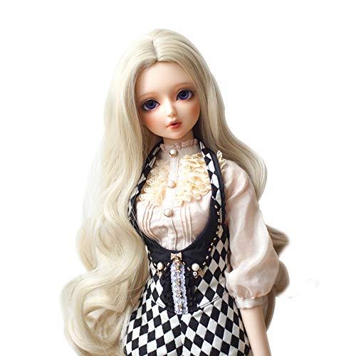 MUZI WIG High Temperature Doll Hair Wig, Synthetic Fiber Hair Wig BJD Doll Wigs for 1/3 BJD SD Doll