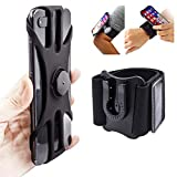 Sancore 2in1 Armband Wristband Phone Holder, Detachable Running Phone Mount for Cycling Fishing Walking Fits iPhone 11 12 Pro Max Mini Xr XS 8 Plus, Galaxy S20 Ultra S10 Note 20 10 9 ect