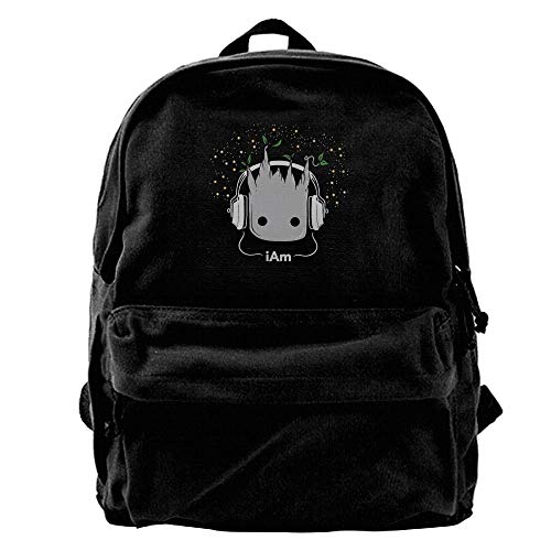 Homebe Mochila antirrobo Impermeable,Canvas Laptop Backpack, Mochila de Portátil, I Am Groot Cute Baby Groot Outdoor Travel Daypack College Student Rucksack Fits Up To 15.6 Inch Computer