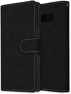 Galaxy S8 ケース, Abtory 高級 PU レザー 手帳型 財布型 スタンド マグネット付き カードホルダー付き ストラップ付き ケース for Samsung Galaxy S8 ブラック