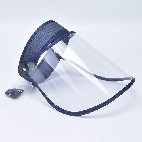 Yifan Tapa Protectora Anti-Gotita Saliva Anillo para el Cabello Cara Completa Hombres y Mujeres Antivirus HD Máscara Transparente Vacío Sombrero de Copa Ajustable Protector
