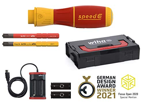 Wiha E-Schraubendreher speedE® II electric (44318) 7-tlgmitslimBits,BatterienundUSB-LadegerätinL-BoxxMini