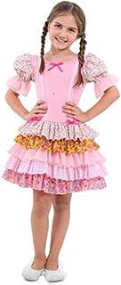 fd2e8e0f18 Vestido de Festa Junina Caipira Caipirinha Infantil Com Babados Luxo