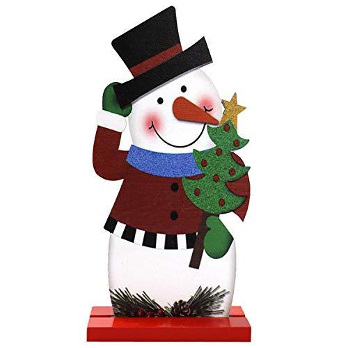 heekpek Banner di Schiaccianoci Figure Tenda per Porte Decorazioni Natalizie per la casa Natale Figura in Legno Ornamenti Stampa Fronte-Retro (C)