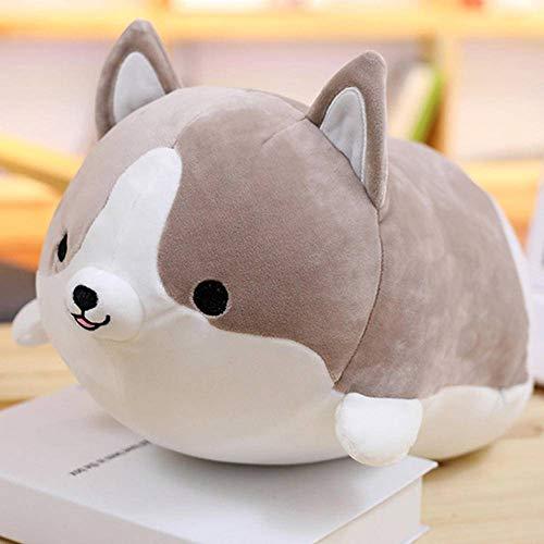 N-B Lindo Perro Corgi Almohada de muñeca Shiba Inu Juguete de Felpa conmuñeca para Dormir Almohada de Animal de Peluche Regalo para bebé 35cm